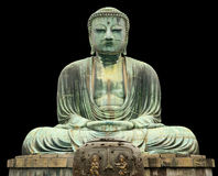 Kamakura Great Buddha isolated on black Royalty Free Stock Photo