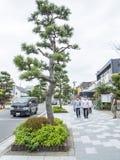 Kamakura huvudsaklig gata Arkivfoto