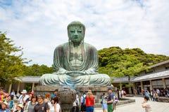 KAMAKURA, JAPÃO - 24 DE MAIO DE 2015: A grande Buda de Kamakura, Ja Fotografia de Stock Royalty Free