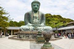 KAMAKURA, JAPÃO - 24 DE MAIO DE 2015: A grande Buda de Kamakura, Ja Fotografia de Stock