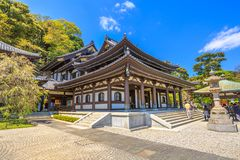 Main hall Hase-dera Kamakura Stock Image