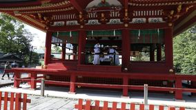 Lower Worship Hall Kamakura stock video footage