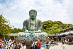 KAMAKURA JAPAN - MAJ 24, 2015: Den stora Buddha av Kamakura, Ja Royaltyfri Fotografi
