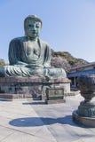 Kamakura Japan - mars 23, 2014: Stor Buddha Royaltyfri Bild