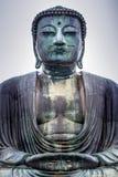KAMAKURA JAPAN, NOVEMBER 14, 2015: KÅ- toku-i Buddistisk tempel w Royaltyfria Bilder