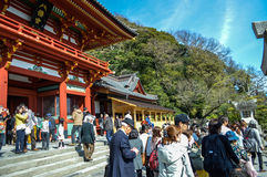 Kamakura at Kanagawa,Japan - March 31,2014: Tsurugaoka Hachimangu Shrine. Royalty Free Stock Photo