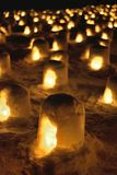 Kamakura snow lanterns at a festival in Yokote, Akita, Japan Royalty Free Stock Images