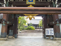 Kamakura tempelport Arkivbild