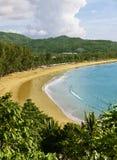 海滩kamala普吉岛泰国 免版税库存图片