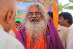 Kamala Ananda Bharata Swami in Tirupati, Indien, am 4. Februar 2018 Lizenzfreie Stockfotografie