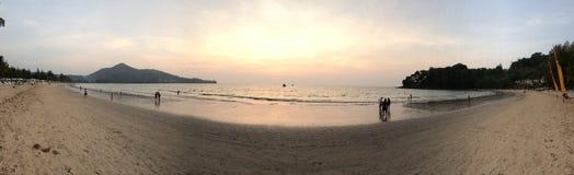 Kamala beach. Sunset view in kamala beach Royalty Free Stock Image