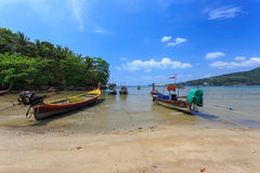 Kamala Beach. Fisherman's boat on Kamala beach, Phuket, Thailand Stock Photo