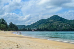 Kamala beach in Phuket Island Stock Photos