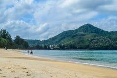Kamala beach in Phuket Island. Thailand Stock Photos