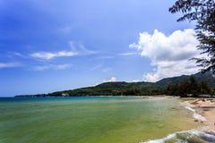 Kamala Beach, Phuket, Thailand. Kamala Beach at morning. Phuket, Thailand Royalty Free Stock Images