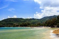 Kamala Beach, Phuket, Thailand. Kamala Beach at morning. Phuket, Thailand Royalty Free Stock Photo