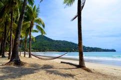 Kamala strand på Phuket, Thailand Arkivfoto