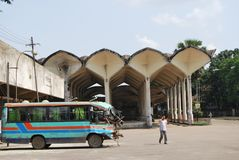 Kamalapur火车站达卡孟加拉国 图库摄影