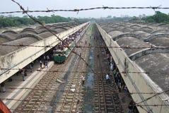 Kamalapur火车站,达卡,孟加拉国 库存照片