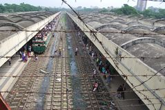 Kamalapur火车站,达卡,孟加拉国 免版税库存照片