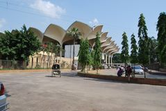 Kamalapur railway station dhaka bangladesh. royalty free stock photo