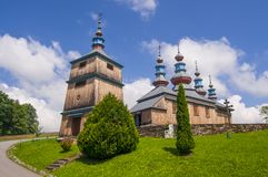 Kamancza, Польша, июнь 2018 Греческий католический приход защиты матери бога стоковые фото