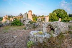 Kamani Pobiti - σχηματισμοί βράχου φαινομένου στη Βουλγαρία κοντά στη Βάρνα Στοκ φωτογραφία με δικαίωμα ελεύθερης χρήσης