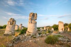 Kamani Pobiti - σχηματισμοί βράχου φαινομένου στη Βουλγαρία κοντά στη Βάρνα Στοκ εικόνα με δικαίωμα ελεύθερης χρήσης