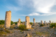 Kamani Pobiti - σχηματισμοί βράχου φαινομένου στη Βουλγαρία κοντά στη Βάρνα Στοκ Εικόνα