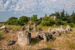 Kamani Pobiti - σχηματισμοί βράχου φαινομένου στη Βουλγαρία κοντά στη Βάρνα Στοκ εικόνες με δικαίωμα ελεύθερης χρήσης