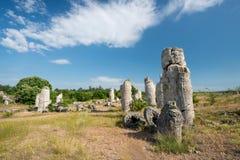 Kamani Pobiti - σχηματισμοί βράχου φαινομένου στη Βουλγαρία κοντά στη Βάρνα Στοκ Φωτογραφία