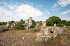 Kamani Pobiti - σχηματισμοί βράχου φαινομένου στη Βουλγαρία κοντά στη Βάρνα Στοκ Φωτογραφίες
