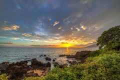 Kamaole Beach Sunset Royalty Free Stock Image