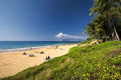 Kamaole III strand, södra kust av Maui, Hawaii Royaltyfria Bilder