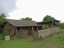 Kamar Tribal's Dwelling. Raipur District, Chhattisgarh, India royalty free stock image