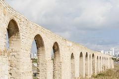Kamares Aquaduct in Larnaca Cyprus Stock Photography