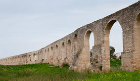 Kamares Aqueduct in larnaca Cyprus Royalty Free Stock Images