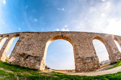 Kamares Aqueduct near Larnaca, Cyprus Royalty Free Stock Photography