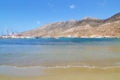 Kamares beach at Sifnos island Cyclades Greece royalty free stock photo