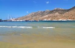 Kamares beach at Sifnos island Greece stock image