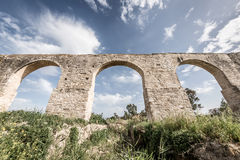 Kamares, der alte Aquädukt von Larnaka zypern Stockfotografie