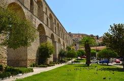 Kamares medieval aqueduct. stock images