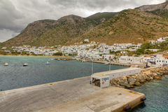 Kamares port, Sifnos island, Cyclades, Greece Stock Image