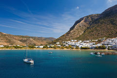 Kamares village in Sifnos. Stock Photo