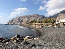 Kamari海滩 图库摄影