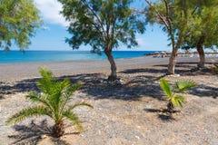 Kamari Beach Santorini Royalty Free Stock Images