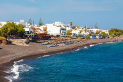 Kamari Beach Santorini Stock Photography