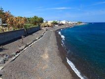 Kamari Beach Santorini Stock Photos
