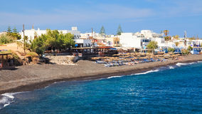 Kamari Beach Santorini Stock Images