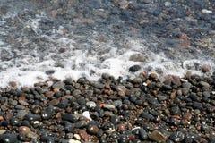 Kamari Beach Santorini Stock Images